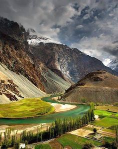 At the Ghizer River in Phander Valley, Gilgit, Pakistan.