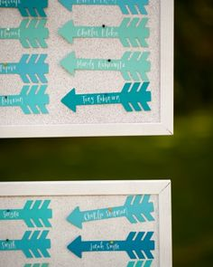 "See the ""The Escort Cards"" in our A Vibrant, Whimsical Outdoor Destination Wedding in Maine gallery Wedding Place Cards, Wedding Paper, Wedding Reception Seating, Reception Table, Rustic Table Numbers, Seating Cards, Martha Stewart Weddings, Festival Wedding, Name Cards"