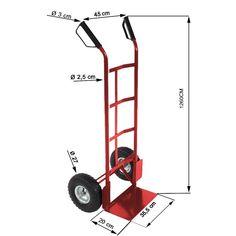 Carretilla Manual de Dos Ruedas Para Cargar Productos Pesados,carga 200kg: Amazon.es: Bricolaje y herramientas