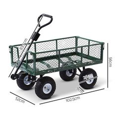 Mesh Garden Cart Steel Removable Sides Trolley Wagon ATV Trailer Balck Gardeon - 9350062147580 For Sale, Buy from Wheebarrows & Garden Carts collection at MyDeal for best discounts. Welding Cart, Metal Welding, Yard Tractors, Pull Wagon, Types Of Welding, Atv Trailers, Welding Training, Garden Cart, Atv Accessories