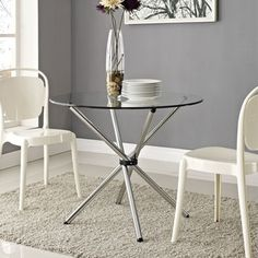 'Baton' Clear Dining Table - 15908207 - Overstock - Great Deals on Modway Dining Tables - Mobile