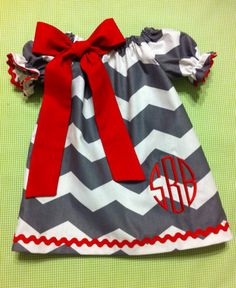 Babies/Toddlers/Girls Valentine's Day Chevron by DitsyDaisyDoo, $25.00
