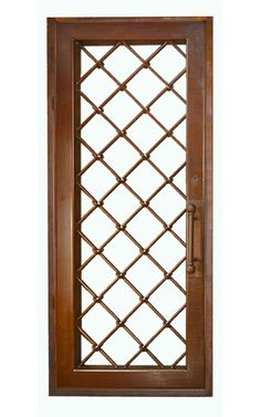 Iron Security Gates - Gridwork Design - patina finished wrought iron entrance gates by Scottsdale Art Factory