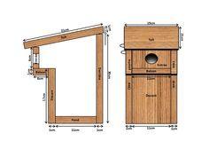 Nichoir à balcon: A construire pour abriter les mésanges qui mange les chenille processionnaires.