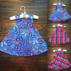 Check out this amazing American Pride Flower Power Butterfly and Tie Dye Stars Reversible Sundress for Infants and Toddlers