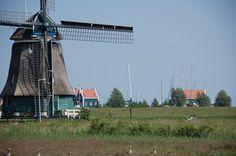 Windmill in Volendam, The Netherlands.