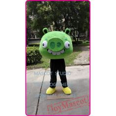 Green Pig Mascot Costume Pig Costumes, Mascot Costumes, Goofy Dog, Bengal Tiger, Adult Children, Black Panther, Puppets, Cartoon, Green