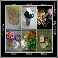 21 day fix day 18 meals Weekly meal plan updated on Mondays with a vlog! asfitnessandhealth.com/blog