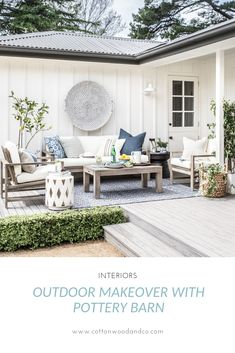 Our outdoor makeover with Pottery Barn - Patio Furniture - Ideas of Patio Furnit. Our outdoor makeover with Pottery Barn – Patio Furniture – Ideas of Patio Furniture Diy Garden Furniture, Patio Furniture Sets, Furniture Layout, Rustic Furniture, Antique Furniture, Modern Furniture, Adirondack Furniture, Furniture Design, Furniture Logo