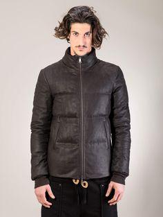 10sei0otto Leather down jacket $1089.77