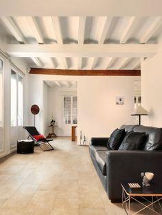 Tile on photo: Refin - P.Borgogna Oro For more tile info please log onto our website www. Material Library, Limestone Flooring, Living Room Flooring, Timeless Elegance, Tile Floor, Tiles, Couch, Architecture, Design