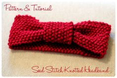 Seed Stitch Knotted Headband: Free Pattern & Tutorial // thefrillypages.com