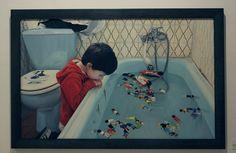 Artista: Ado-Nay ( Manuel Rivero ) Título: No todos juegan II. Óleo sobre lienzo. 100x150 cm. 2016