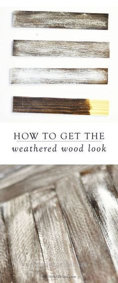 Neat Using a rustic finish on your DIY projects will give your space a farmhouse-style look. Here, you will learn how to get the weathered wood look to add a special touch to your home decor. ..