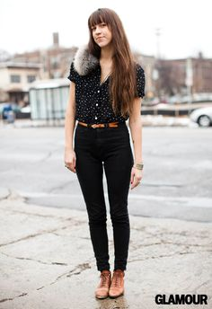 How to wear high waisted black jeans