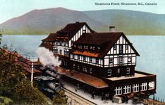 Railway stations in Sicamous BC Old Train Station, Train Stations, Canada Rail, Freight Transport, Travel English, Boat Plans, Locomotive, British Columbia, Trains