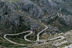 Now this is the baby - or more likely the Nemesis! And what you see is not even the half of it. This is Sa Colabra, Mallorca, Spain.  It takes 18min to drive it from bottom to top. In May2015 our peloton hill climber did it in just 44min. Well done Ryan H Spellman! You not only conquered it, you floored it. THEBIKESHED-Tetbury.net