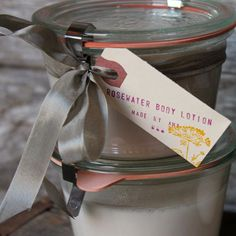 Homemade Rose Body Lotion