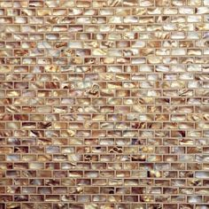 Antique Gold Uniform Brick Brown Shell Glossy Series by Glass Tile Oasis (Cultivate.com)