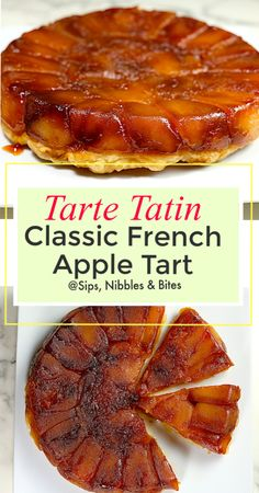 The classic French caramel apple tart with a sweet history. The Tarte Tatin is delicious, very easy to make and unmolding it from the pan will impress everyone, even your kids. Tart Recipes, Best Dessert Recipes, Fun Desserts, Sweet Recipes, Cooking Recipes, Fruit Dessert, French Recipes, Yummy Recipes, Dinner Recipes