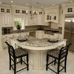 Kitchen - cool island idea