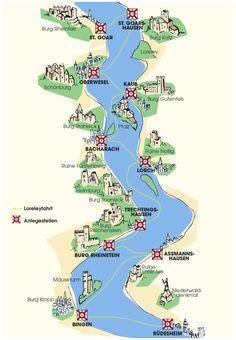 Map Of Germany Rhine River Valley Frankfurt Hahn Airport Cochem - Rhine valley germany map