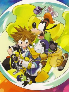 Shiro Amano, Kingdom Hearts, Goofy Goof, Donald Duck, Sora