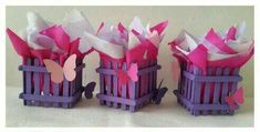 únelos Butterfly Centerpieces, Stick Centerpieces, Diy Crafts Hacks, Diy Crafts For Gifts, Diy Popsicle Stick Crafts, Kids Planner, Butterfly Baby Shower, Candy Bouquet, 1st Birthday Girls