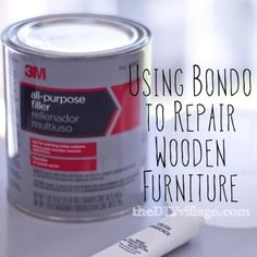How to repair wooden furniture using Bondo