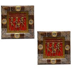Wall Decor : Dhokra Tribal Art Wall Frame - Set of 2