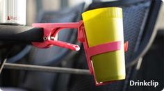 Clip-On Cup Holders - The Drinkclip Keeps the Wetness Where It Belongs (GALLERY)