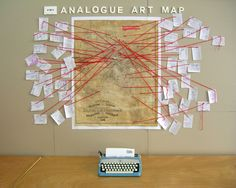 Analogue Art Map - During Next Wave Festival, Analogue Art Map presented a collaborative mapping project within Stranger of the Month. Visitors to the temporary mailroom at Office 10, Level 3, Nicholas Building, Melbourne, were invited to submit maps to favorite places or hidden treasure.