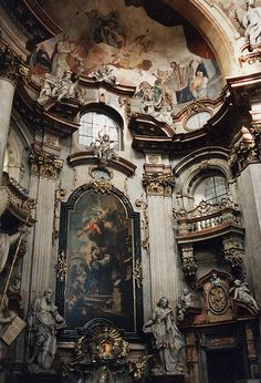 Interior of St. Nicholas Church, Lesser Town, Prague, Czech Republic. (via earthmagnified.)