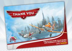 Hey, I found this really awesome Etsy listing at https://www.etsy.com/listing/173404124/disney-planes-thank-you-card