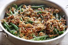 Garlicky Green Beans with Crispy Onions  - Delish.com