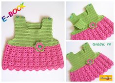 """Häkelanleitungen - E-BOOK Häkelanleitung: Baby-Kleidchen """"LENA LOVE"""" - ein Designerstück von onmyway bei DaWanda Häkelanleitung Baby, Crochet Baby, Etsy, Fashion, Crochet For Baby, Little Dresses, Crochet Clothes, Moda, La Mode"""
