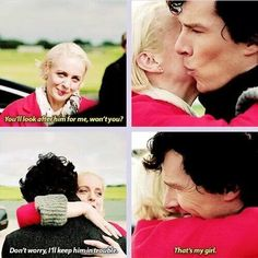 Sherlock, season 3, episode 3: His Last Vow. AHHHH HIS OPEN AFFECTION WITH MARY IS JUST THE BEST