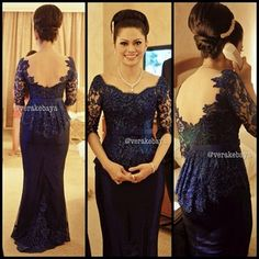 kebaya | Going to be his Bride Vera Kebaya, Kebaya Lace, Kebaya Dress, Batik Kebaya, Wedding Dress Bolero, Wedding Party Dresses, Lace Dress, Stunning Dresses, Elegant Dresses