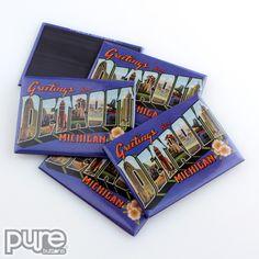 Detroit Michigan Tourism Souvenir Fridge Magnets