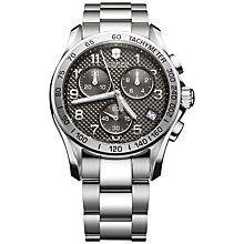 Buy Victorinox 241405 Men's Chrono Classic Chronograph Bracelet Watch, Silver Online at johnlewis.com