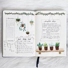 This is so beautiful I love the water colour plant illustrations! @emmysdaydream #notebooktherapy