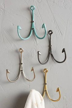 Fish Hook Hangers (could work as frame holders)