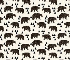 Geometric Bear - Cream