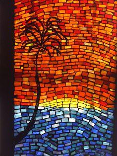 Mosaic window - Madang Coast, PNG