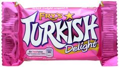 Cadbury Fry's Turkish Delight 10 bars UK Made Fry's Turkish Delight is a chocolate sweet made by Cadbury. It was launched in the UK in 1914 by the Bristol chocolate manufacturer J. Fry Sonsand consists of a rose-flavoured Turkish delight su. Cadbury Chocolate, Chocolate Shop, Chocolate Bars, Making Chocolate, Chocolate Cream, Chocolate Covered, Candy Recipes, Gourmet Recipes