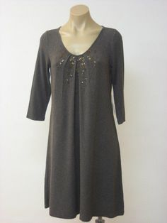 EILEEN FISHER NWT Stretch Sequins Elbow Sleeves Dress Tunic XS XSmall $258  #EileenFisher #SEQUIN #Casual