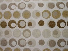 Beautiful 54 Upholstery  fabric   Circles Beige by PrincessFabrics, $12.99