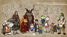 The Night of the Rabbit - Residents of Mousewood