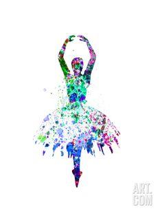 Ballerina Dancing Watercolor 4 Art Print by Irina March at Art.com
