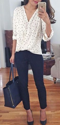 #fall #fashion / polka dot